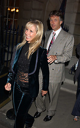 SUSAN SANGSTER and STUART CROSSLEY at the Bruce Oldfield Crimestoppers Party held at Spencer House, 27 St.James's Place, London SW1 on 22nd September 2005.<br />