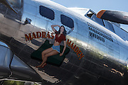 "Boeing B-17 Flying Fortress, ""Madras Maiden"" at Erickson Aircraft Collection."