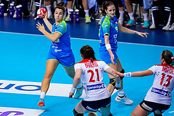 02-12-2019 JAP: Slovenia - Norway, Kumamoto<br /> Second day 24th IHF Womenís Handball World Championship, Slovenia lost the second match against Norway with 20 - 36. / Tjasa Stanko #10 of Slovenia