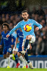 December 8, 2018 - London, Greater London, England - Bernardo Silva of Manchester City during the Premier League match between Chelsea and Manchester City at Stamford Bridge, London, England on 8 December 2018. (Credit Image: © AFP7 via ZUMA Wire)