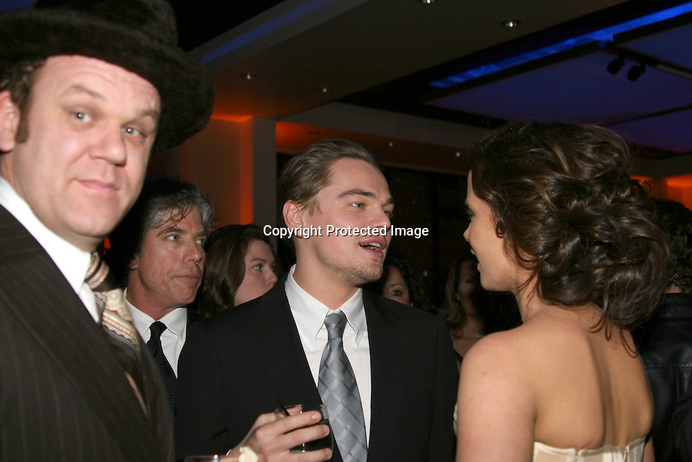 John C. Reilly , Leonardo DiCaprio &amp; Kate Beckinsale <br />**EXCLUSIVE**<br />Miramax Films Presents -&ldquo;The Aviator&rdquo; Post Premiere Party <br />Annex Restaurant<br />Hollywood, CA, USA<br />Wednesday, December 1, 2004<br />Photo By Selma Fonseca /Celebrityvibe.com/Photovibe.com, <br />New York, USA, Phone 212 410 <br />5354, email:sales@celebrityvibe.com