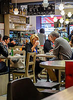 RIGA, LATVIA - CIRCA MAY 2014: Interior view of the of the popular bar and Coffee Shop Innocent in Riga