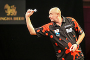 James Wilson during the 2016 Singha Beer Grand Slam of Darts at Wolverhampton Civic Hall, Wolverhampton, United Kingdom on 13 November 2016. Photo by Shane Healey.
