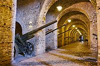 Albanie, Albania, Gjirokaster, patrimoine mondial de l'Unesco, le chateau // Albania, Gjirokaster province, Gjirokastra (Gjirokaster), UNESCO World Heritage Site, Old city, the castle