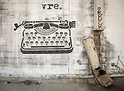 graffiti in New Orleans; typewriter, Joie de Vivre