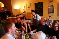 Burgundy, France...Fabienne Escoffier, the chef of Ma Cuisine, which she owns in Beaune with her husband Pierre, who is the host and wine  . steward....Photo by Owen Franken for the NY Times..May 28, 2008
