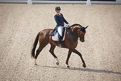 Zoutendijk Lisanne, (NED), Kostendrukkers Watteau<br /> Roelofsen Horse Trucks Prijs - Juniors Team Test<br /> Dutch Championship Dressage - Ermelo 2015<br /> © Hippo Foto - Dirk Caremans<br /> 17/07/15