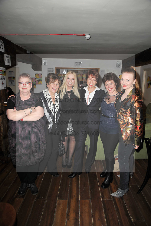 Left to right, JO BRAND, BARONESS HELENA KENNEDY,  PAMELA STEPHENSON, KATHY LETTE, RUBY WAX and JUDITH OWEN at the gala night party of Losing It staring Ruby Wax held at he Menier Chocolate Factory, 51-53 Southwark Street, London SE1 on 23rd February 2011.