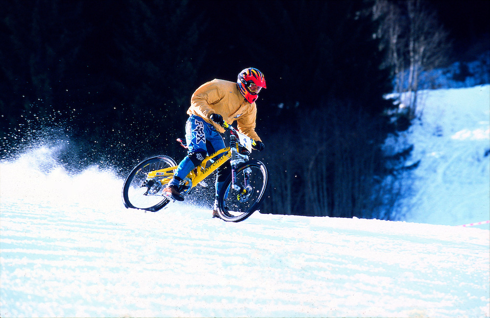 Snow downhill race, Bad Gastein, Austria. 1997