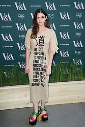 Sai Bennett attending the VIP preview for the V&A Museum's Fashioned From Nature exhibition, in London. Picture date: Wednesday April 18, 2018. Photo credit should read: Ian West/PA Wire