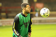 Oxford United midfielder, on loan from Wolverhampton Wanderers, Jordan Graham during the Sky Bet League 2 match between York City and Oxford United at Bootham Crescent, York, England on 29 September 2015. Photo by Simon Davies.