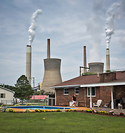 Home near the John Amos coal-fired power plant in Poca, West Virginia.