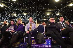 """© Licensed to London News Pictures . 30/11/2015 . Leeds , UK . The audience listens as Nigel Farage addresses a """" Say No to the EU """" event at the Leeds United's ground at Elland Road . Photo credit: Joel Goodman/LNP"""