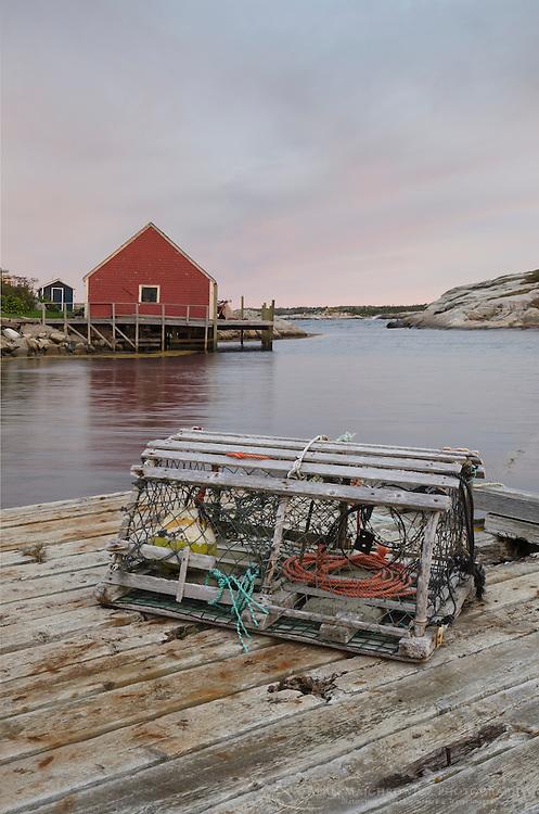 Wooden lobster trap at Peggy's Cove Nova Scotia