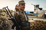Kurdish frontline with ISIS, near Bashiqa, Iraq 2015