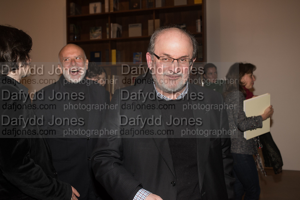 FRANCESCO CLEMENTE; SALMAN RUSHDIE, , Francesco Clemente Private view,  Emblems of Transformation. Blain Southern. London. 28 April 2015