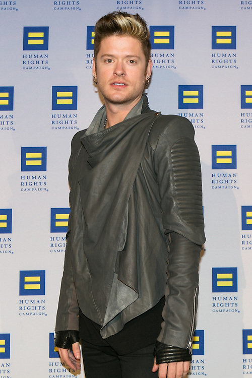 Nash Overstreet, lead guitarist for Hot Chelle Rae at the HRC's Greater NY Gala 2014 held at the Waldorf=Astoria in New York City on Saturday, February 8, 2014. (Photo: JeffreyHolmes.com)