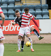 Dundee&rsquo;s Daryll Meggatt and Hamilton&rsquo;s Carlton Morris - Dundee v Hamilton Academical, Ladbrokes Scottish Premiership at Dens Park<br /> <br />  - &copy; David Young - www.davidyoungphoto.co.uk - email: davidyoungphoto@gmail.com