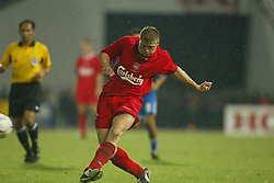 BANGKOK, THAILAND - Thailand. Thursday, July 24, 2003: Liverpool's Neil Mellor during a preseason friendly match at the Rajamangala National Stadium. (Pic by David Rawcliffe/Propaganda)