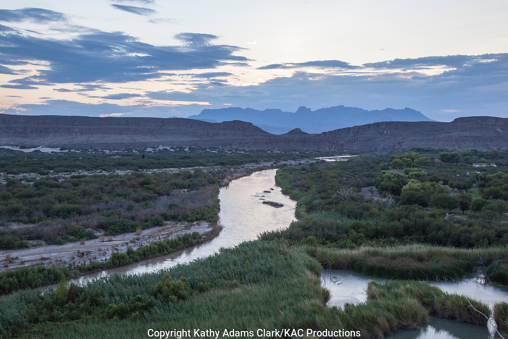 Rio Grande at Big Bend National Park; Chihuahuan Desert; Texas in summer.
