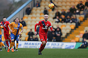 York City midfielder Russell Penn  during the Sky Bet League 2 match between Mansfield Town and York City at the One Call Stadium, Mansfield, England on 28 December 2015. Photo by Simon Davies.