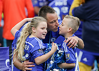 Football - 2014 / 2015 Premier League - Chelsea vs. Sunderland.   <br /> <br /> Chelsea's John Terry with his 2 children at Stamford Bridge. <br /> <br /> COLORSPORT/DANIEL BEARHAM
