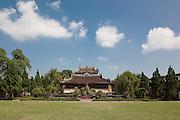 Royal Library or Emperor's Reading Room (Thai Binh Lau) with garden in the Forbidden Purple City, Hue Citadel / Imperial City, Hue, Vietnam