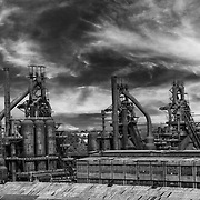 Bethlehem Steel seen from the rooftop of Northampton Community College