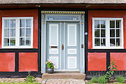 Quaint door on Tasinge Island off Svendborg, part of South Funen Archipelago, Denmark