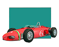 This is the kind of car that brings to mind the history of racing cars. This Italian classic features one of the most iconic designs ever used to create a vehicle. That design and attention to detail are brought to brilliant life through digital painting. You are going to love the way this piece looks in your home or office.