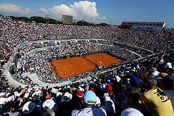 May 19, 2018 - Rome, Italy - A view of the Central Court during the match Rafael Nadal (SPA) v Novak Djokovic (SRB) at Foro Italico in Rome, Italy during Tennis ATP Internazionali d'Italia BNL semi-final on May 19, 2018. (Credit Image: © Matteo Ciambelli/NurPhoto via ZUMA Press)