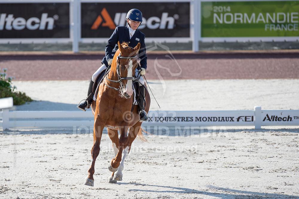 Lee Frawley, (ISV), Rhapsody - Team Competition Grade IV Para Dressage - Alltech FEI World Equestrian Games&trade; 2014 - Normandy, France.<br /> &copy; Hippo Foto Team - Jon Stroud <br /> 25/06/14