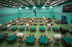 The Fife election counting centre in Glenrothes seems eerily quiet before the polls have closed.<br /> <br /> &copy; Dave Johnston/ EEm
