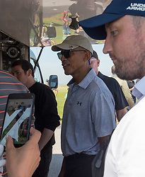 Former US president Barack Obama playing golf at St Andrews.