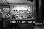 09/04/1964<br /> 04/09/1964<br /> 09 April 1964<br /> Photographic equipent company stands at the Photography Fair at the Intercontinental Hotel, Dublin. Mini photo stand.