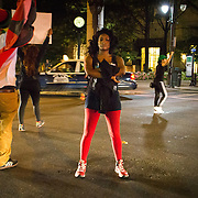 Charlotte, NC- September 21, 2016:  Protests that started in Marshall Park in uptown Charlotte continued into the early morning resulted in violence and destruction of propery. CREDIT: Logan R Cyrus