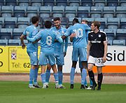 Bolton Wanderers' Josh Vela is congratulated after scoring - Dundee v Bolton Wanderers pre-season friendly at Dens Park, Dundee, Photo: David Young<br /> <br />  - © David Young - www.davidyoungphoto.co.uk - email: davidyoungphoto@gmail.com