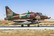 Israeli Air Force (IAF) Mcdonnell-Douglas A-4 Skyhawk (Ayit) fighter jet