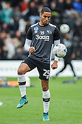 Derby County defender Max Lowe (25) during pre-match warm up of the EFL Sky Bet Championship match between Derby County and Sheffield Wednesday at the iPro Stadium, Derby, England on 29 October 2016. Photo by Jon Hobley.