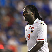 Kenwyne Jones, Trinidad and Tobago in action during the El Salvador Vs Trinidad and Tobago CONCACAF Gold Cup group B football match at Red Bull Arena, Harrison, New Jersey. USA. 8th July 2013. Photo Tim Clayton