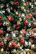 Xmas, Christmas, Decorations, Red, Bronze, Silver, 110ft Tall Christmas Tree