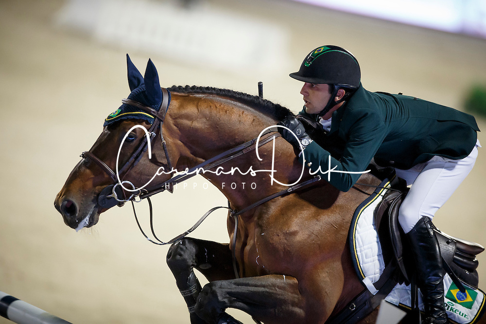 Zanotelli Marlon, (BRA), Rock n Roll Semilly, FEI President<br /> Logines Challenge Cup<br /> Furusiyya FEI Nations Cup Jumping Final - Barcelona 2015<br /> &copy; Dirk Caremans<br /> 25/09/15