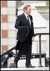 Terry Wogan attends Lady Thatcher's funeral at St Paul's Cathedral following her death last week, London, UK, Wednesday 17 April, 2013, Photo by: Andrew Parsons / i-Images