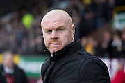 Burnley manager Sean Dyche during the Premier League match between Burnley and Leicester City at Turf Moor, Burnley, England on 19 January 2020.