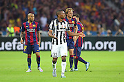 Patrice Evra of Juventus during the Champions League Final between Juventus FC and FC Barcelona at the Olympiastadion, Berlin, Germany on 6 June 2015. Photo by Phil Duncan.