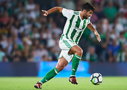 SEVILLE, SPAIN - OCTOBER 15:  Antonio Barragan of Real Betis Balompie in action during the La Liga match between Real Betis and Valencia at Estadio Benito Villamarin on October 15 in Seville.  (Photo by Aitor Alcalde Colomer/Getty Images)