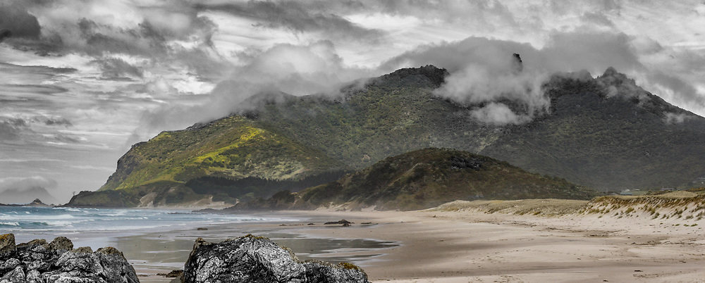 Te Whara (Bream Head) from Kauri Mt. Beach - Whangarei Heads.<br /> <br /> Framed imaged available to view at the The Newday Cafe, Parua Bay.<br /> <br /> Limited edition fine art print.<br /> <br /> Standard print: $165.00<br /> Archival Print:  $375.00<br /> Framed: $650.00<br /> <br /> Image size L:700mm x H:290mm. <br /> <br /> Larger print size available up to 1 metre (length) also available in canvas.<br /> <br /> To order direct, contact Alan through the contact tab above.<br /> <br /> *** Available to view and purchase from Newday Cafe, Parua Bay ***<br /> <br /> <br /> * p&p free within the Whangarei district.