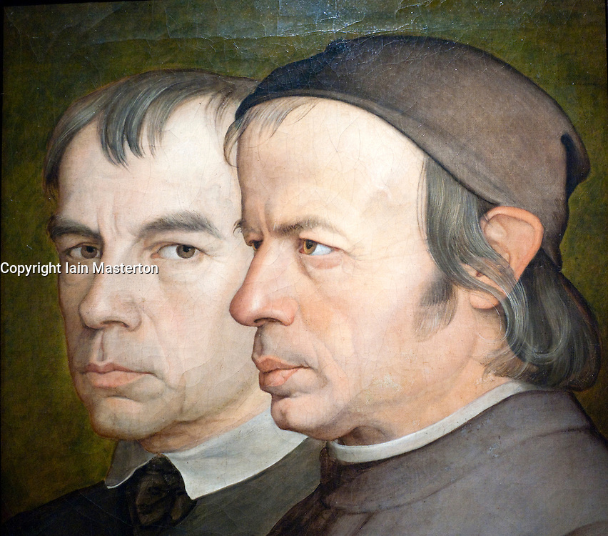 Painting The Eberhard Brothers by Johann Anton Ramboux at Wallraf Richartz museum in Cologne Germany
