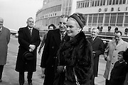 15/03/1964<br /> 03/15/1964<br /> 15 March 1964<br /> Taoiseach Sean Lemass leaves for London to open Irish Week at the London Office of Coras Trachtala and to attend the St. Patrick's night dinner of the N.U.I. Club in London. Picture shows Mr Sean Lemass TD, and Mrs Kathleen Lemass leaving Dublin Airport to board their flight.