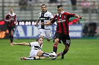 """Daniele Musacci Parma Stephan El Shaarawi Milan<br /> Parma 29/09/2012 Stadio """"Tardini""""<br /> Football Calcio Serie A 2012/13<br /> Parma v Milan<br /> Foto Insidefoto Paolo Nucci"""